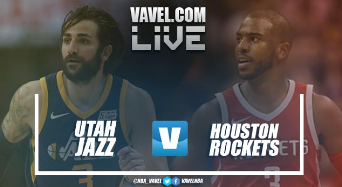 Resumen Utah Jazz vs Houston Rockets en vivo y en directo online en NBA 2017/18 (101-112)