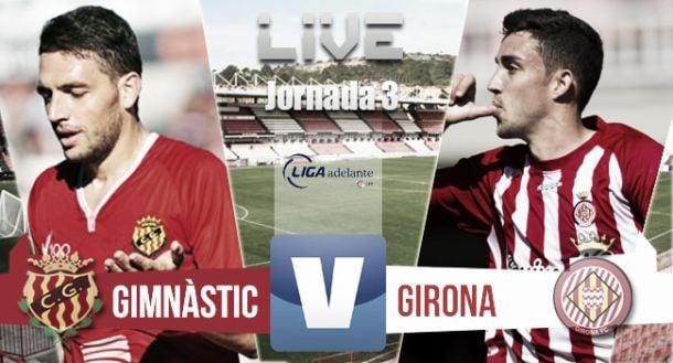 Resultado del Gimnàstic de Tarragona - Girona FC en Liga Adelante 2015 (1-0)
