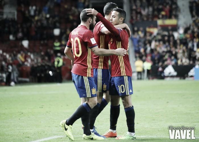 Resumen Macedonia 1-2 España en Clasificación Mundial Rusia 2018
