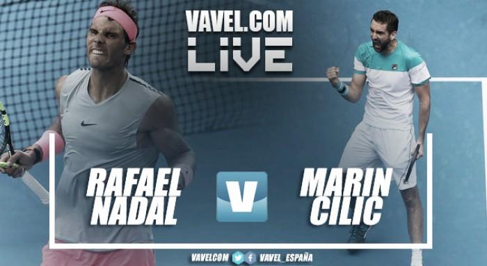 Cilic accede a semifinales tras la retirada por lesión de Nadal