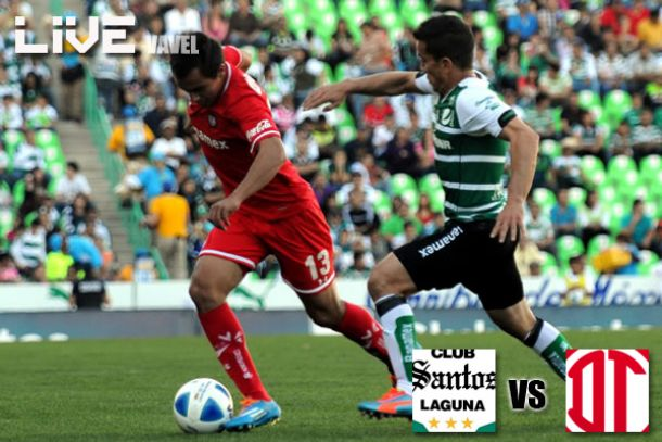 Resultado Santos - Toluca en Liga MX 2014 (3-0)