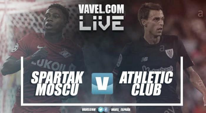 Resultado Spartak de Moscú vs Athletic Club en UEFA Europa League 2018 (1-3)