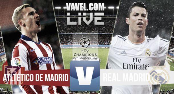 Diretta Atletico Madrid - Real Madrid in la partita di Champions League (0-0)
