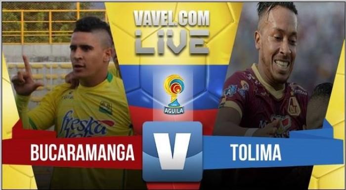 Resultado Bucaramanga vs Tolima en semifinales de Liga Águila 2016 (1-0)