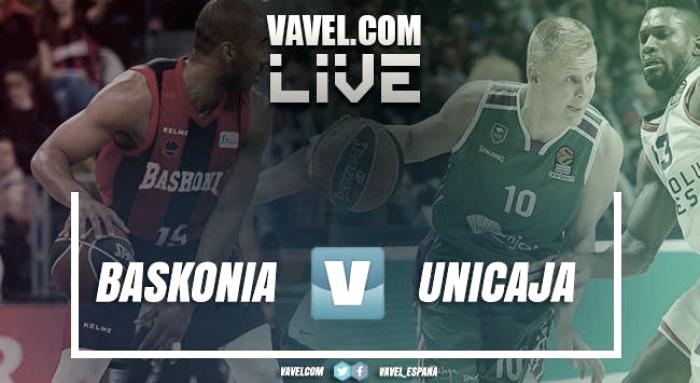Baskonia vs Unicaja en vivo y en directo online en ACB 2018 (96-78)