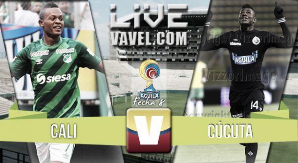 Resultado Deportivo Cali - Cúcuta en la Liga Águila 2015-II (2-0)