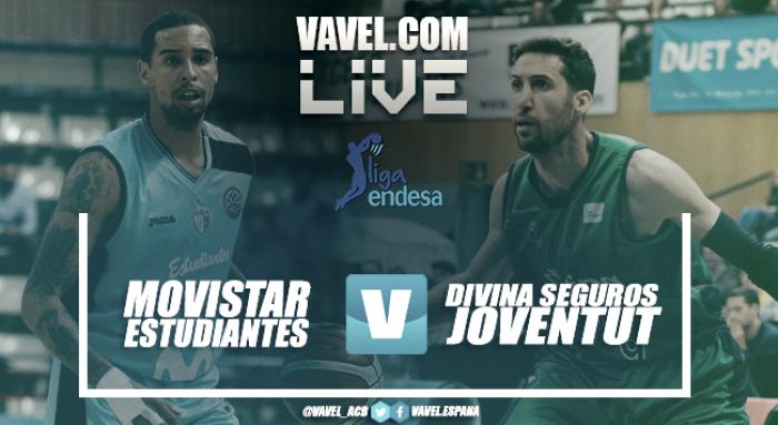 Movistar Estudiantes vs Divina Seguros Joventut en vivo y en directo en Liga Endesa 2018 (101-94)