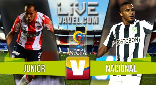 Resultado Junior - Nacional en Liga Águila 2015 (0-4)