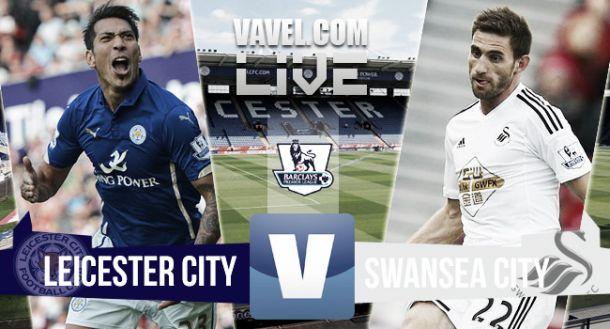 Resultado Leicester City vs Swansea City (2-0)