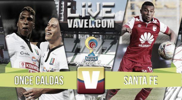 Resultado Once Caldas - Independiente Santa Fe por la novena fecha de la Liga Águila (1-0)