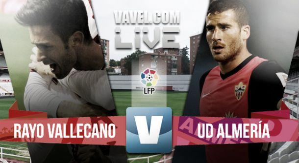 Rayo Vallecano vs Almería en directo y en vivo online en la Liga BBVA 2015 (1-0)