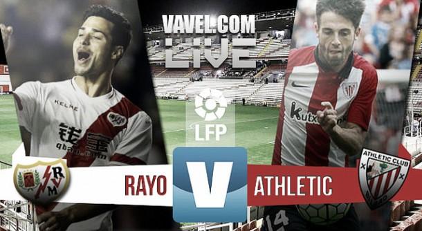Rayo Vallecano vs Athletic de Bilbao en vivo y en directo online en Liga BBVA 2015 (0-1)