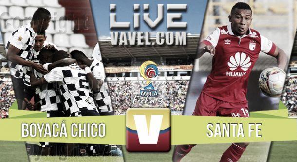 Resultado Boyacá Chicó - Santa Fe por la Liga Águila II 2015 (0-1)