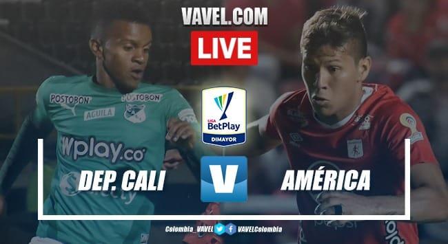 Resumen Deportivo Cali 2-1 América en Liga BetPlay