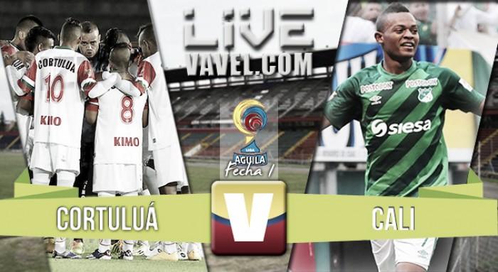 Resultado Cortuluá 4-1 Deportivo Cali en Liga Águila 2016
