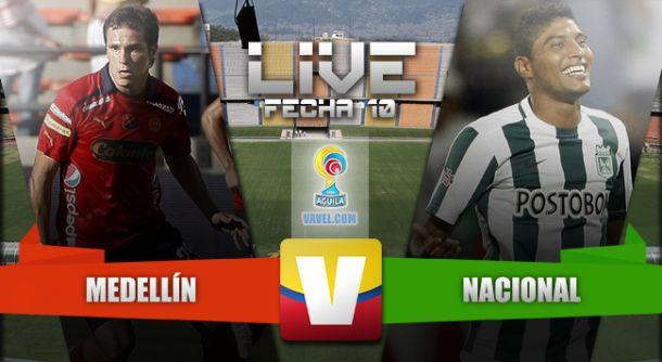 Resultado Independiente Medellín - Atlético Nacional en Liga Águila 2015 (1-0)