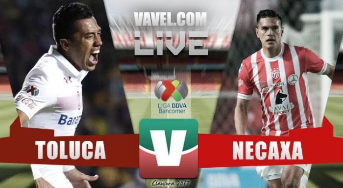 Resultado y goles del Toluca 2 - 0 Necaxa de la Liga MX 2017