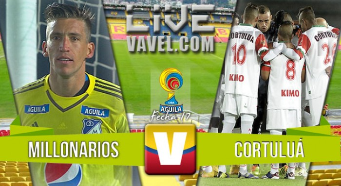 Resultado Millonarios - Cortuluá por Liga Águila 2016 (1-2)