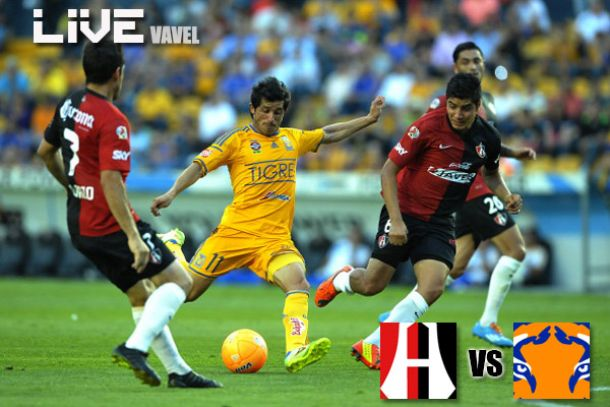 Resultado Atlas - Tigres en Liga MX 2014 (0-0)
