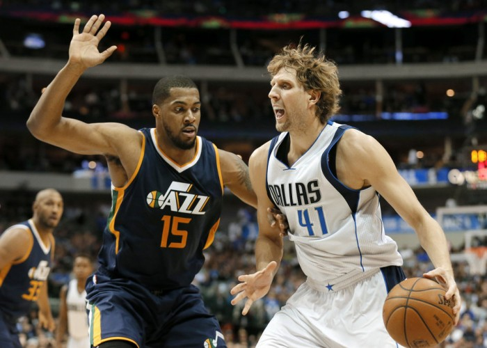 NBA - Nowitzki la porta all'overtime, Barnes la vince ed i Mavericks battono i Jazz