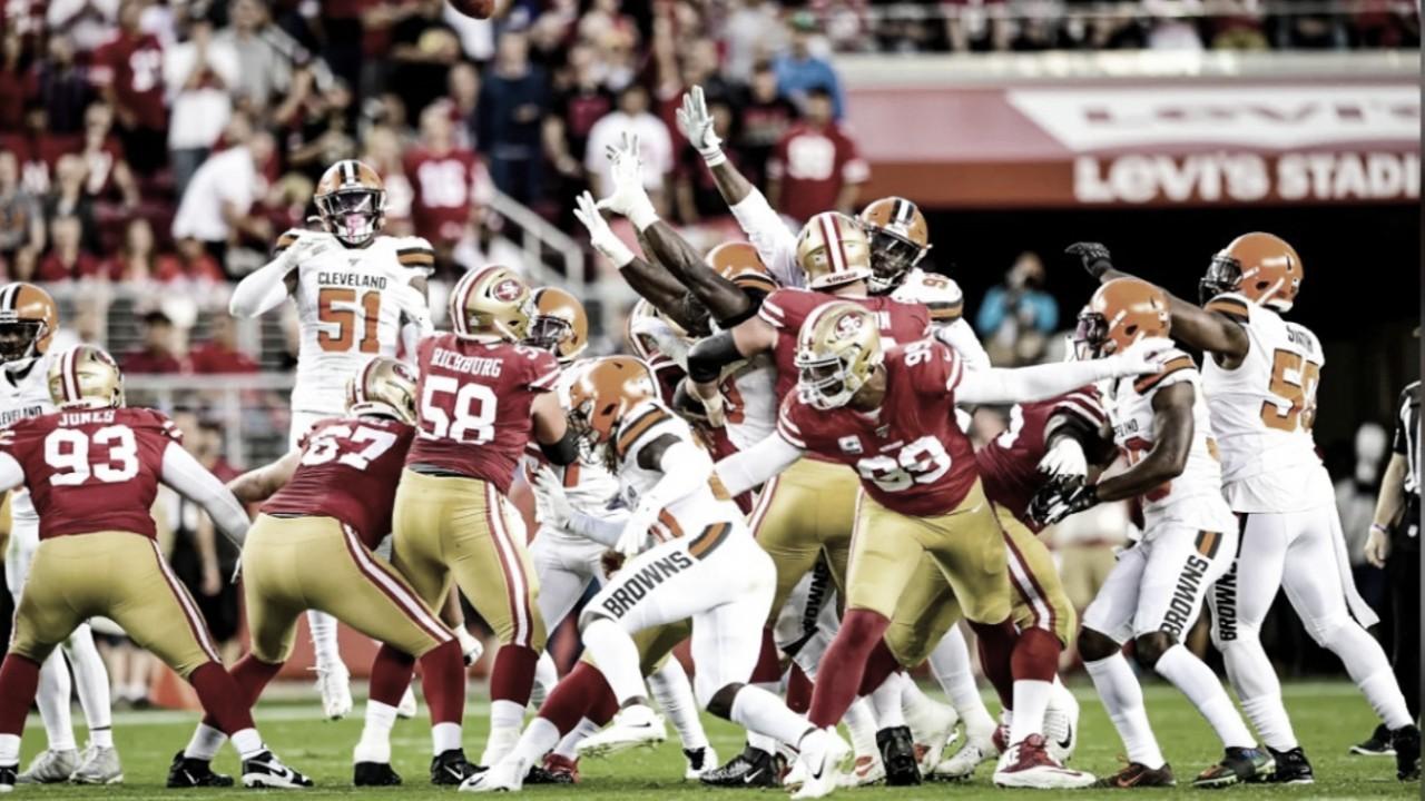 San Francisco aplasta a los Browns y mantiene el invicto