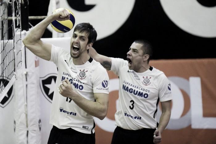 Corinthians bate Botafogo, conquista Taça Ouro e garante vaga na Superliga