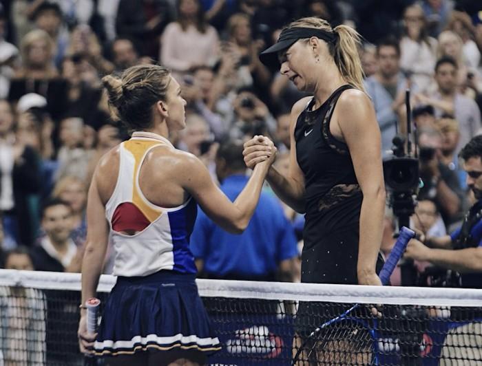 US Open 2017 - Sharapova regale, Halep ko
