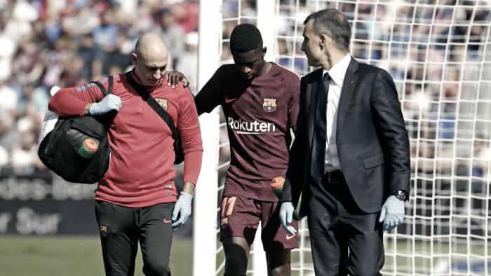 Com lesão no bíceps, Dembélé pode desfalcar Barcelona até 2018