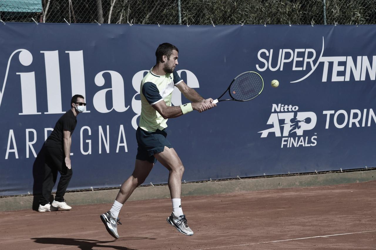 Laslo Djere venceu Marco Cecchinato no ATP da Sardenha 2020 (ATP/Divulgação)
