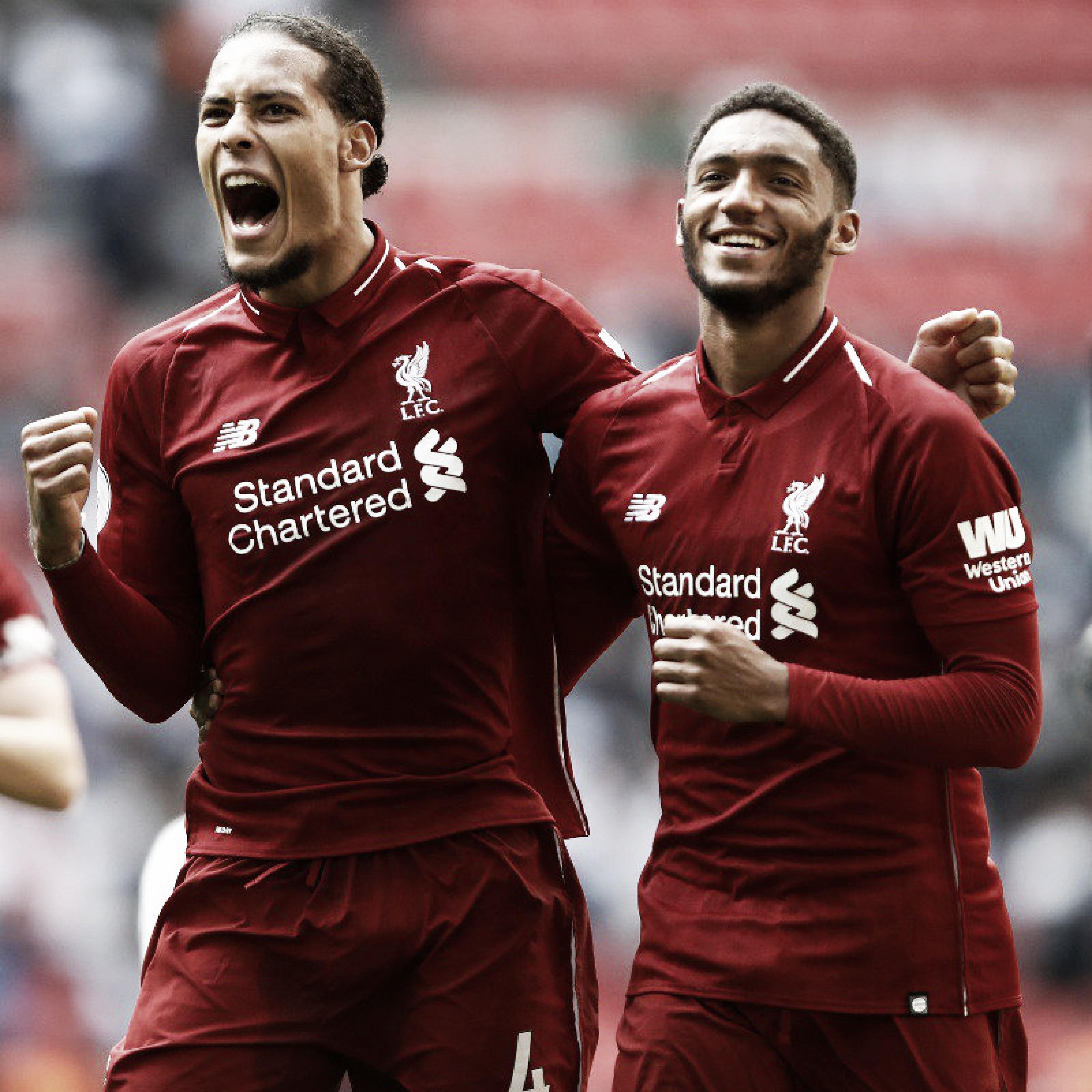 Dupla de zaga funciona, Liverpool vence em Wembley e se mantém na liderança da Premier League