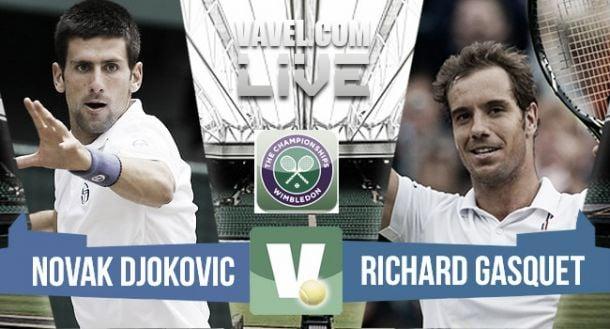 Risultato Djokovic - Gasquet, semifinale Wimbledon 2015 (3-0: 76 64 64)