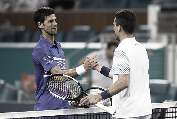 Previa Novak Djokovic - Roberto Bautista: el número uno se examina ante su bestia negra