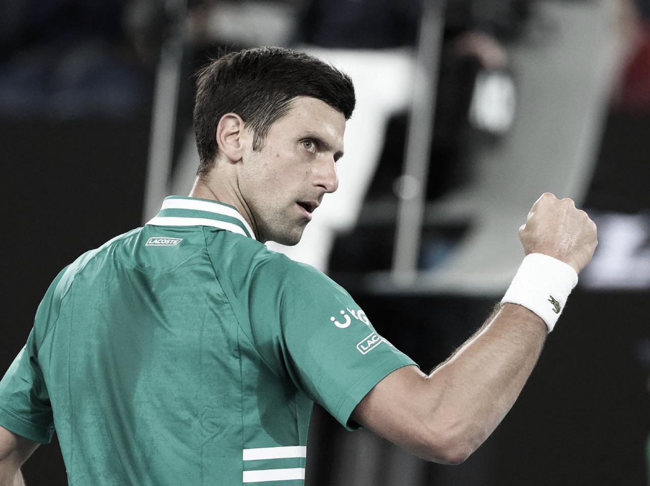 Djokovic vira contra Zverev e está na semifinal do Australian Open 2021