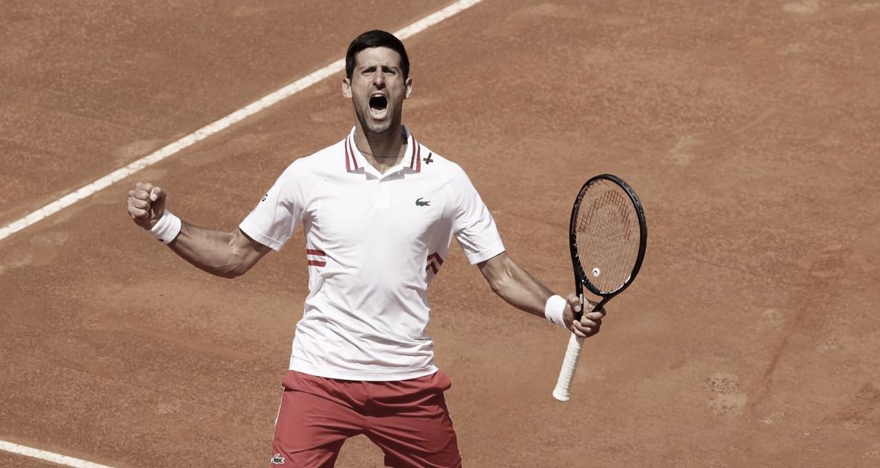 Em mais de três horas, Djokovic vence Tsitsipas e vai à semifinal do Masters 1000 de Roma 2021