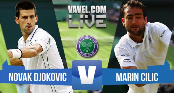 Live Djokovic Vs Cilic, risultato quarti di finale Wimbledon 2015  (3-0)