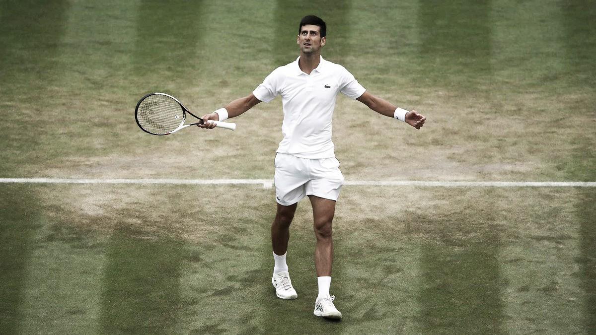 Djokovic passeia e elimina Khachanov para chegar às quartas em Wimbledon