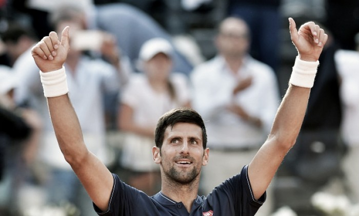 ATP Rome: Novak Djokovic survives the rain, beats Juan Martin del Potro to reach semifinals