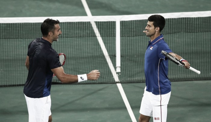 Djokovic e Zimonjic batem croatas nas duplas masculinas do Rio 2016