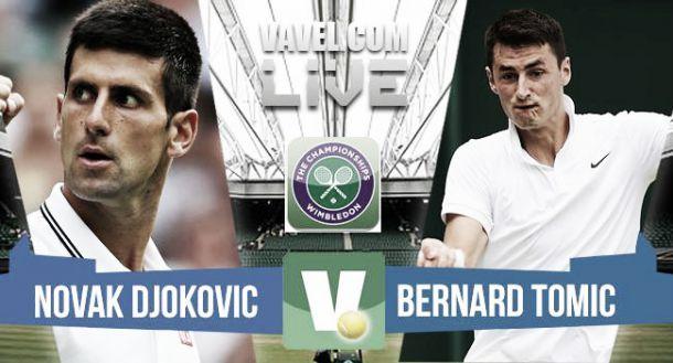 Live Djokovic Vs Tomic, risultato terzo turno Wimbledon 2015  (3-0)