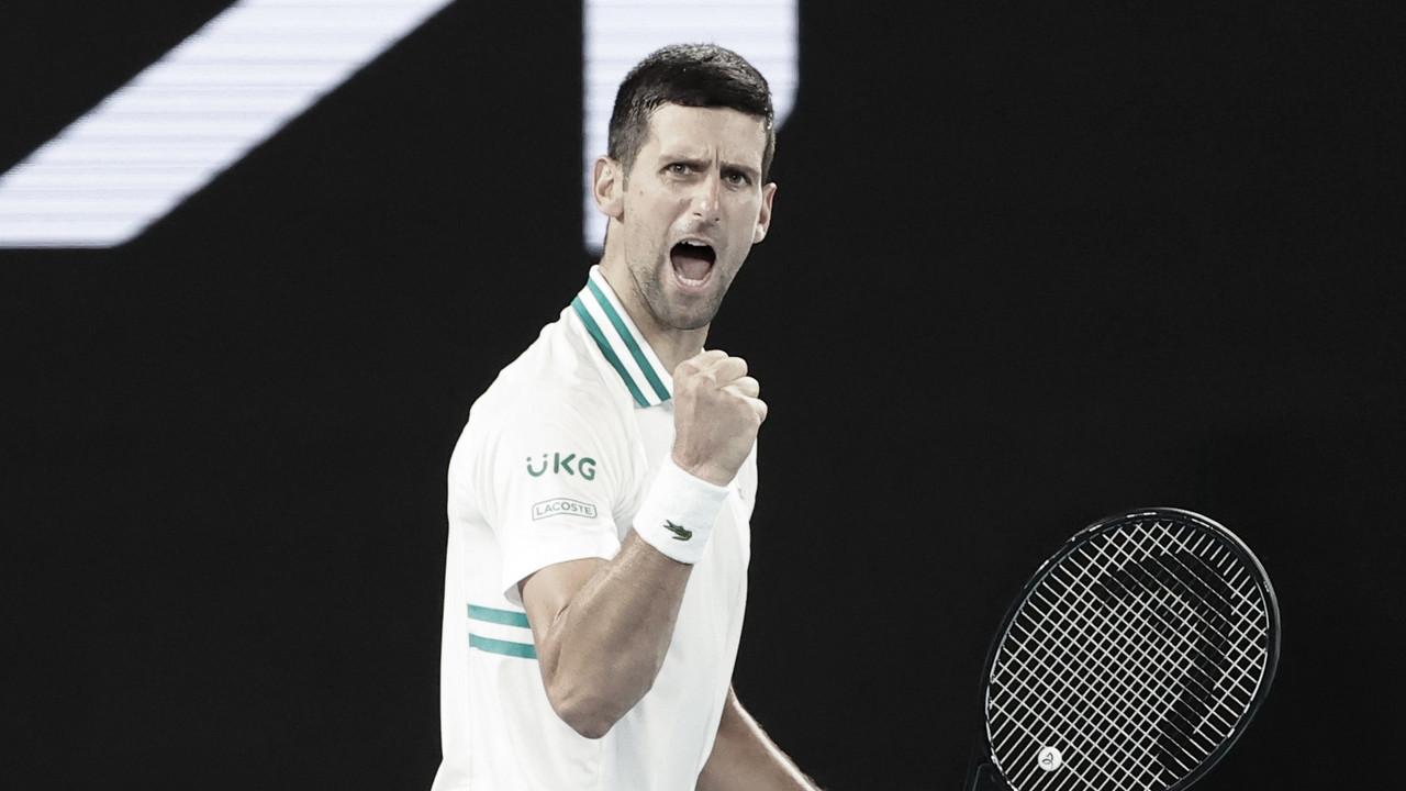 Com tranquilidade, Djokovic passa por Karatsev e chega à nona final de Australian Open