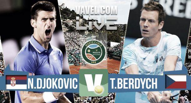 Djokovic vs Berdych en vivo y en directo online en la final de Montecarlo 2015 (0-0)