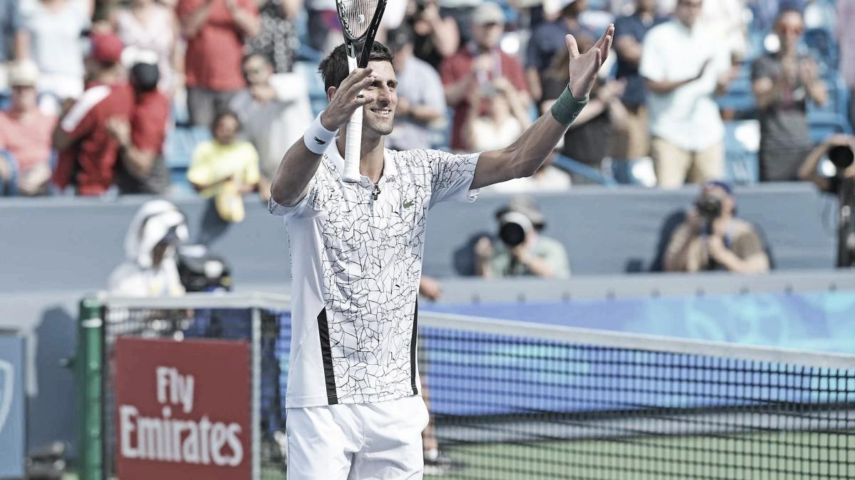 Djokovic derruba Cilic e vai em busca do título inédito no Masters 1000 de Cincinnati