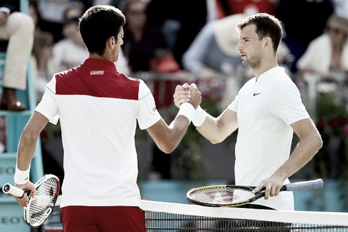 Djokovic atropela Dimitrove avança às quartas no ATP 500 de Queen's