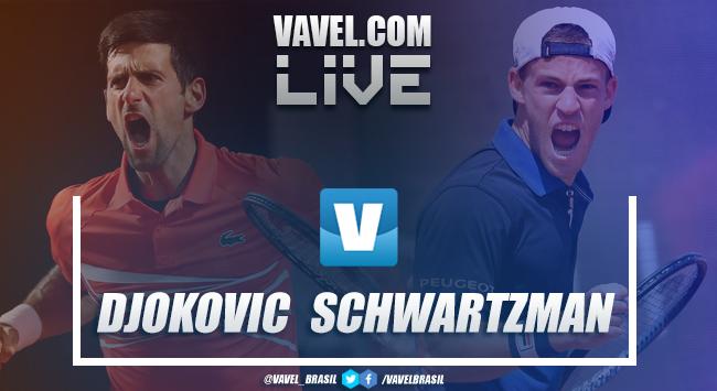 Djokovic derrota Schwartzman pelo Masters de Roma (2-1)
