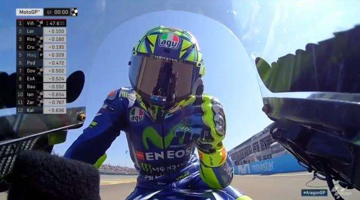 MotoGP, GP di Aragon - Festa Yamaha in qualifica, con Rossi extraterrestre