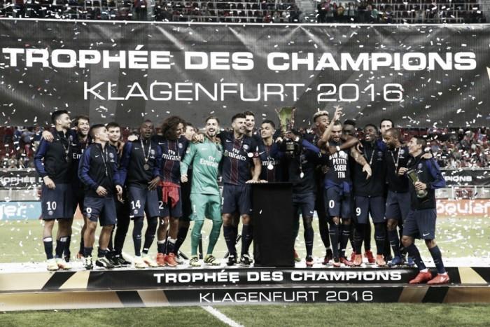 Com gol de Lucas, PSG goleia Lyon e fatura SuperCopa Francesa