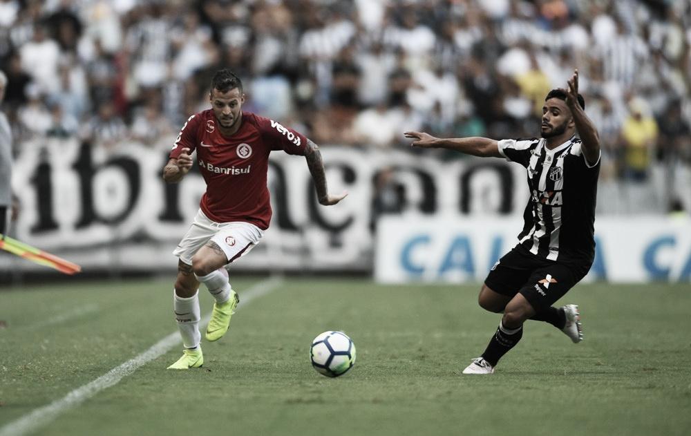 Internacional sai na frente, mas cede empate ao Ceará no Castelão