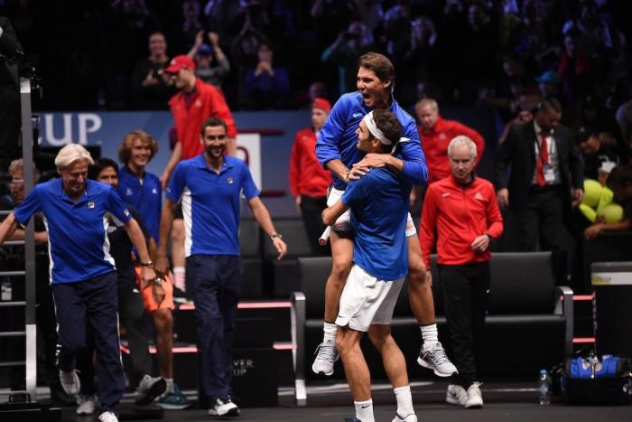 Laver Cup, la firma di Federer