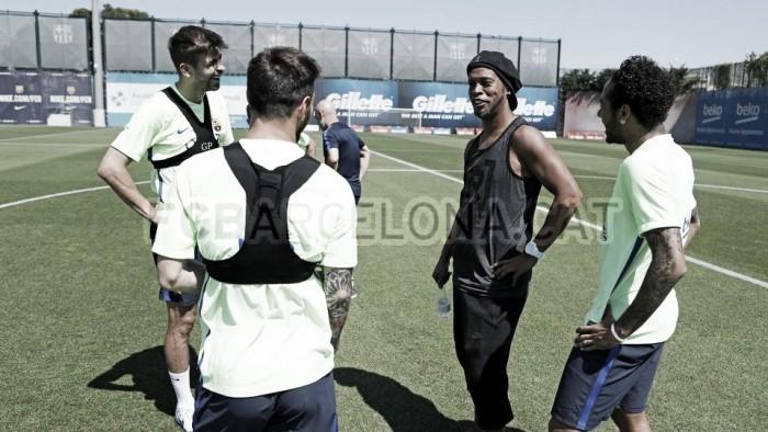 """Ronaldinho: """"Siempre es bueno encontrar grand ..."""