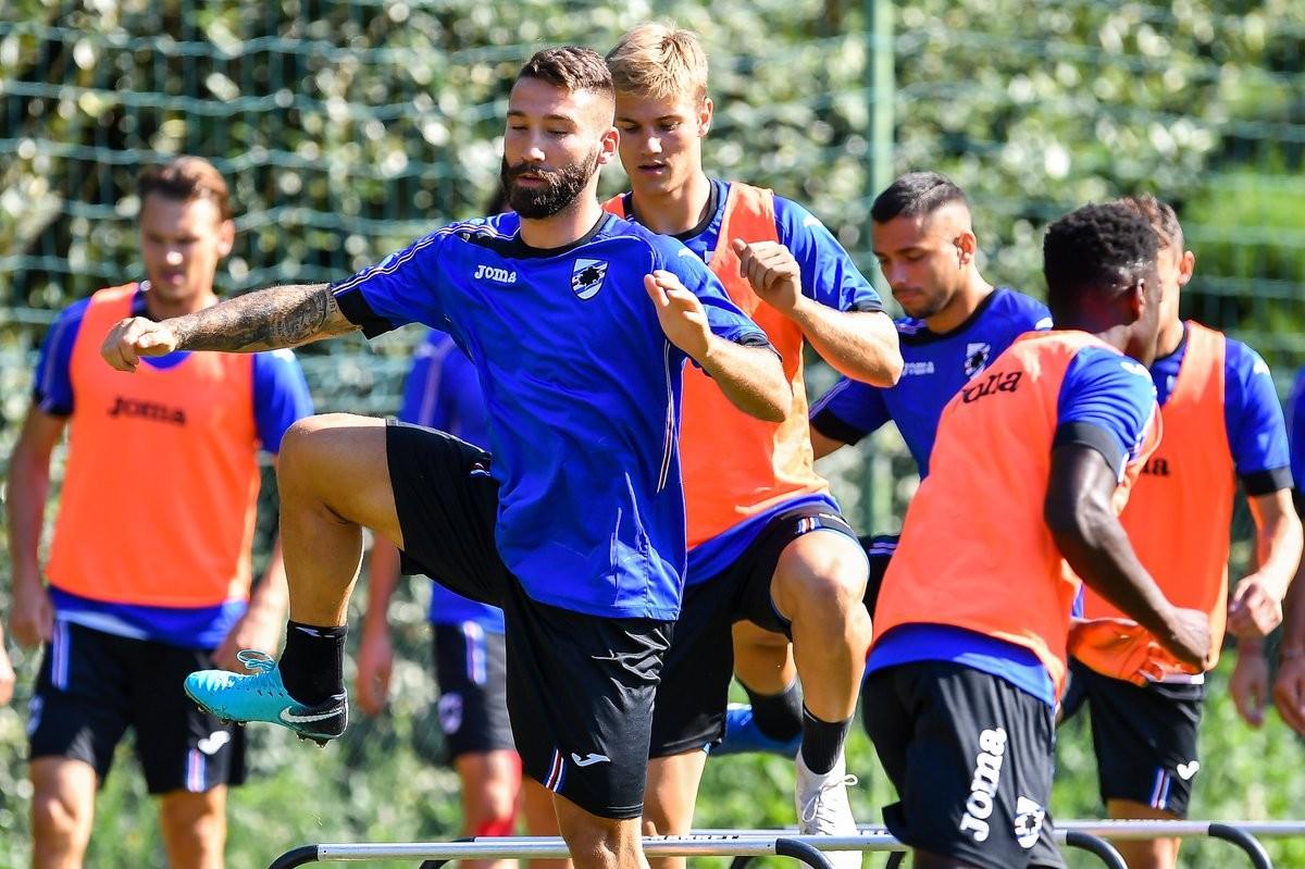 Sampdoria: allenamento in vista dell'Udinese, si cerca un attaccante svincolato